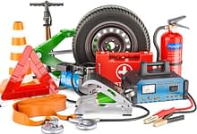 photo of must-have items for your emergency car kit